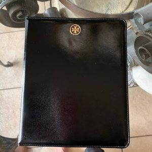 Tory Burch Black Leather iPad Case